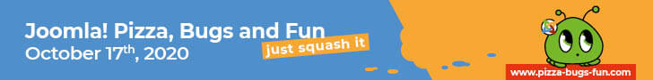Joomla! Pizza, Bugs and Fun - at October 17th, 2020 - 728x90