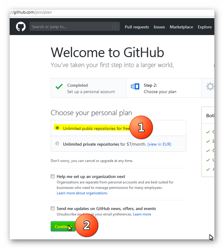 You can use GitHub for free